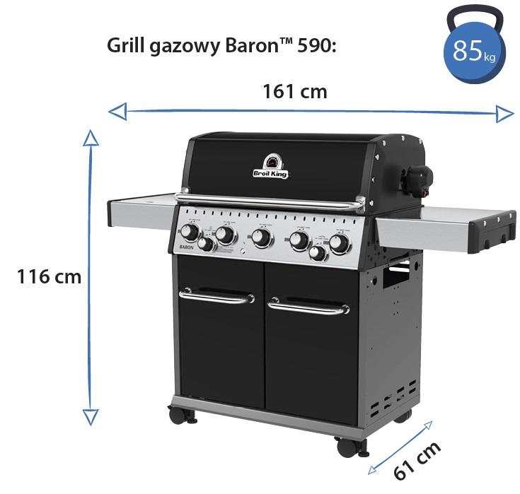 Grill gazowy • Baron 590
