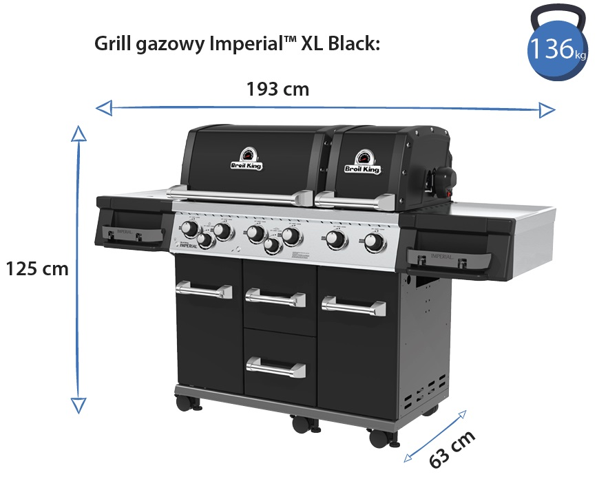 Grill gazowy • Imperial XL Black