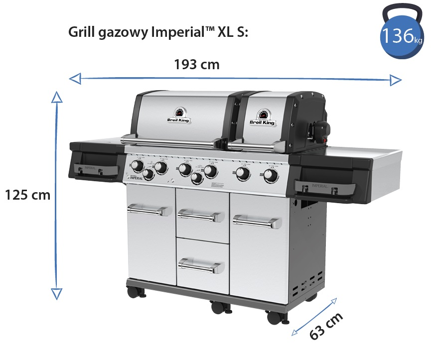 Grill gazowy • Imperial XL S