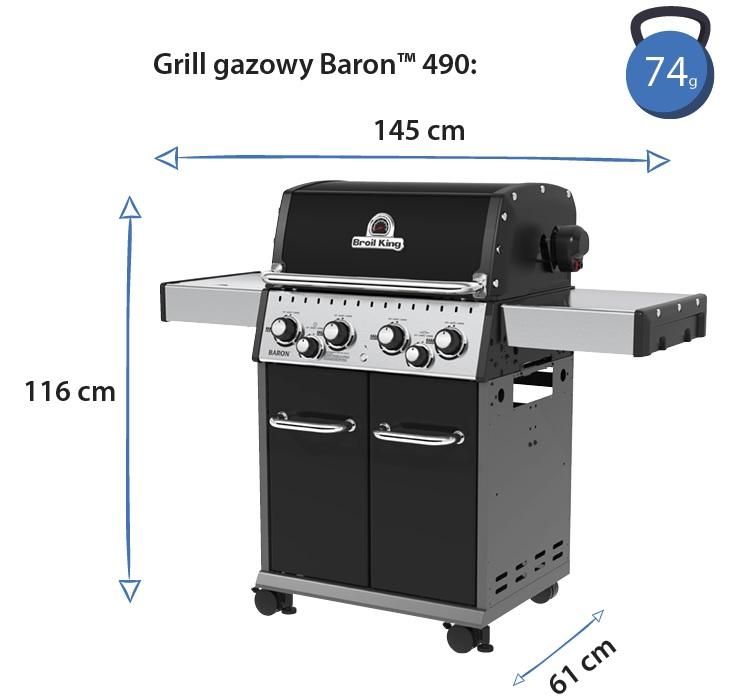 Grill gazowy • Baron 490