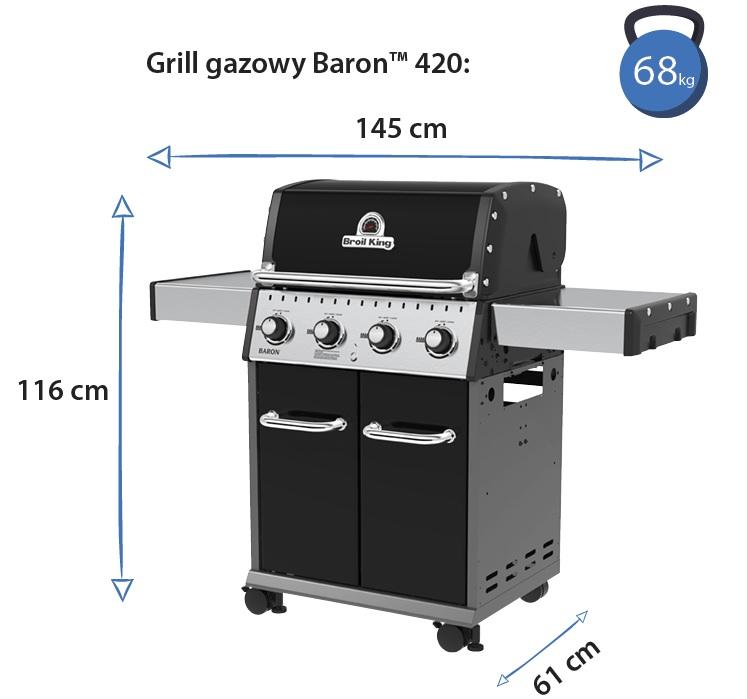 Grill gazowy • Baron 420