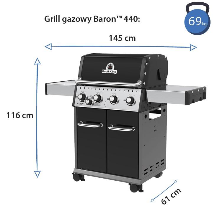 Grill gazowy • Baron 440