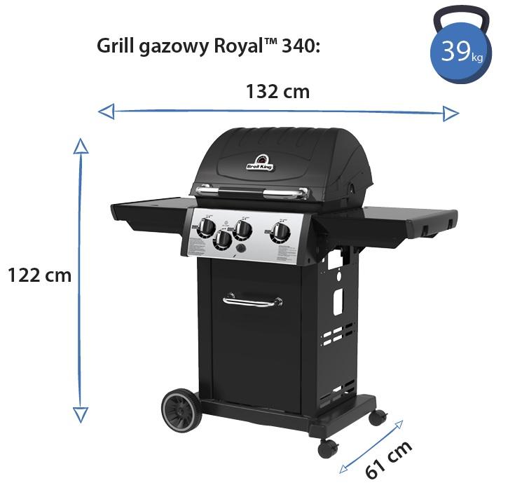 Grill gazowy • Royal 340