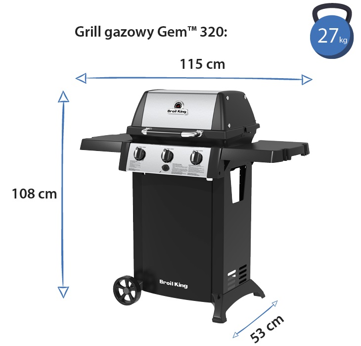 Grill gazowy • Gem 320